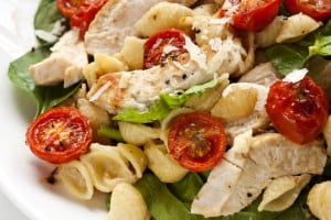 Chicken, Spinach and Tomato Pasta