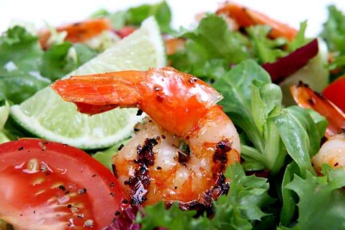 Prawn and Salad